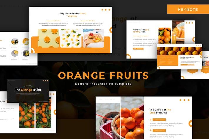 Thumbnail for Orange Fruits - Keynote Template
