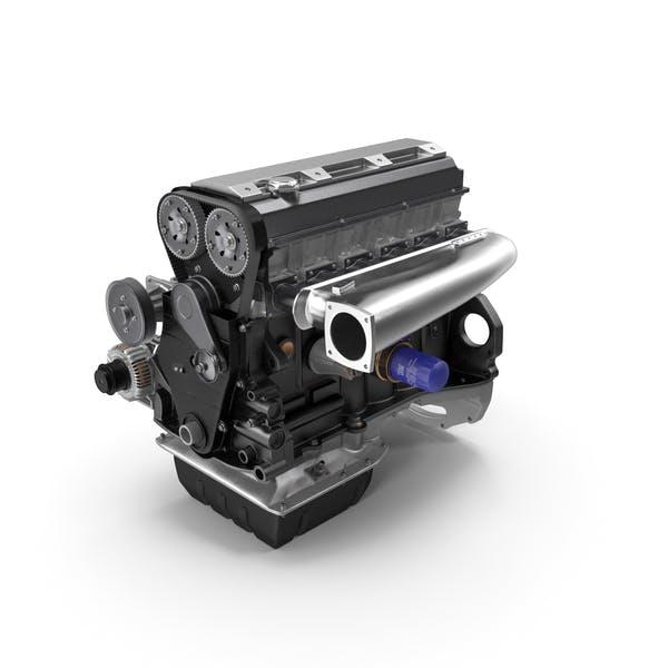 Inline 6 Cylinder Car Engine