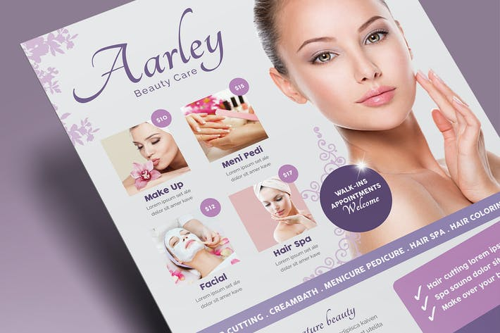 Thumbnail for Beauty Care Flyer + Business Card