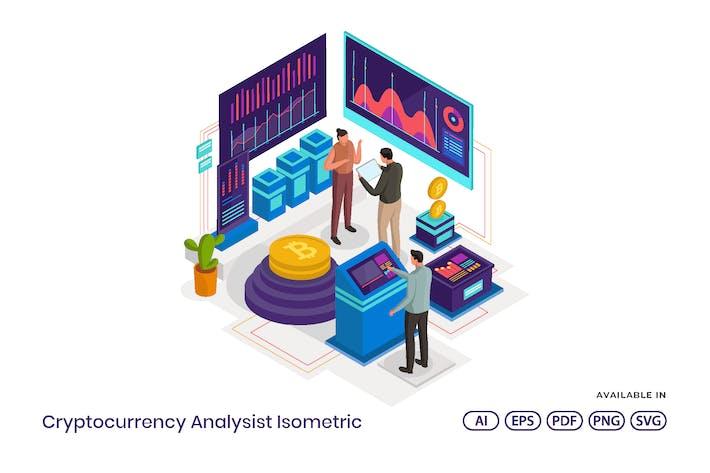 Thumbnail for Kryptowährung Analysis Isometrisch