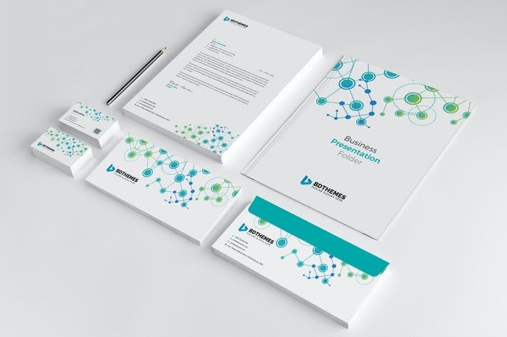 Thumbnail for Business Stationery Template 19