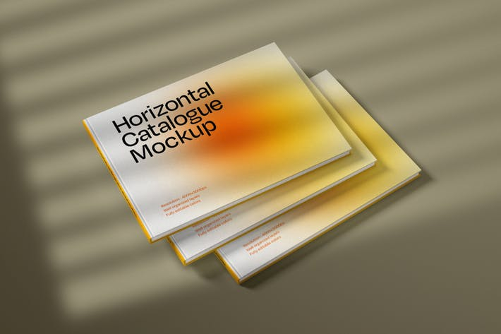 Thumbnail for Horizontal Catalogue Cover Mockup