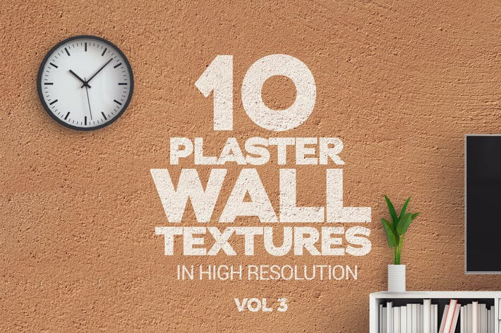 Cover Image For Plaster Wall Textures Vol 3 x10