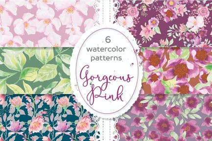 Gorgeous Pinks Watercolor Patterns