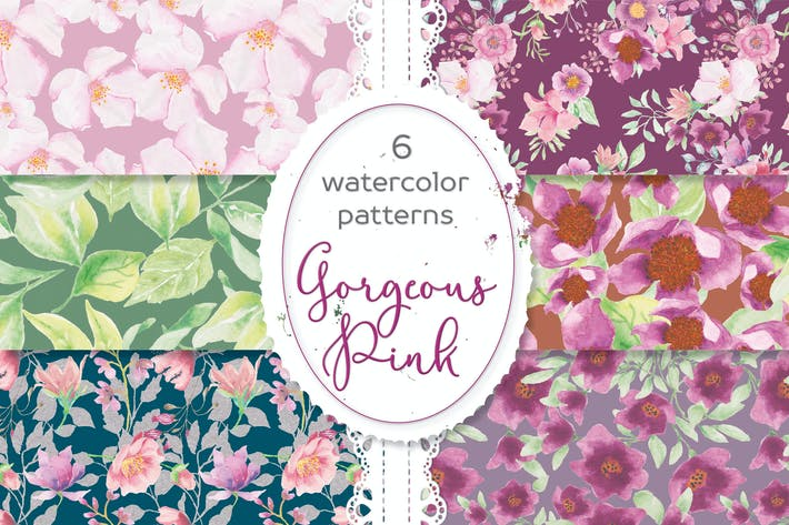 Thumbnail for Gorgeous Pinks Watercolor Patterns