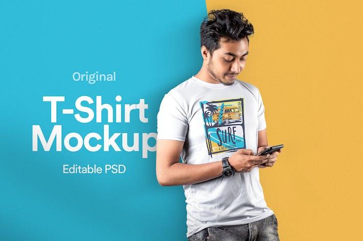 Thumbnail for T-Shirt Mockup Vol 18
