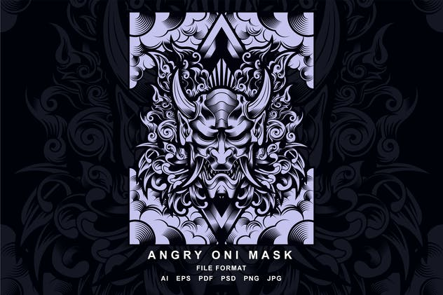 Oni Mask angry - product preview 1