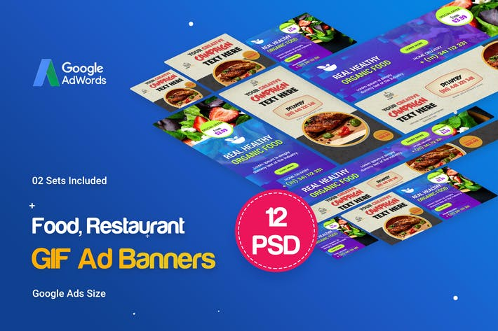 Thumbnail for Animated GIF Food & Restaurant Banners Ad