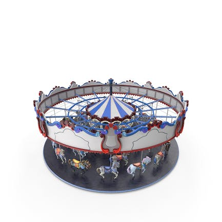 Park Carousel with Horses