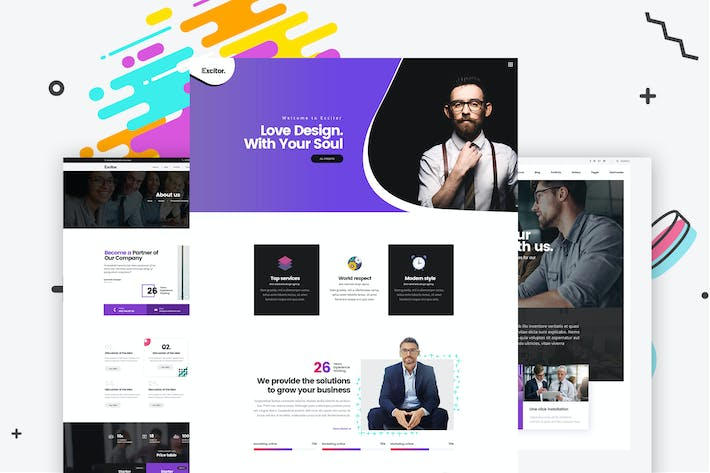 Thumbnail for Creative Portfolio, Agencies PSD Template
