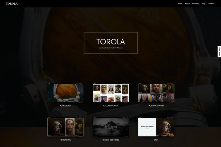 Cover Image For Torola Modern Photography Theme