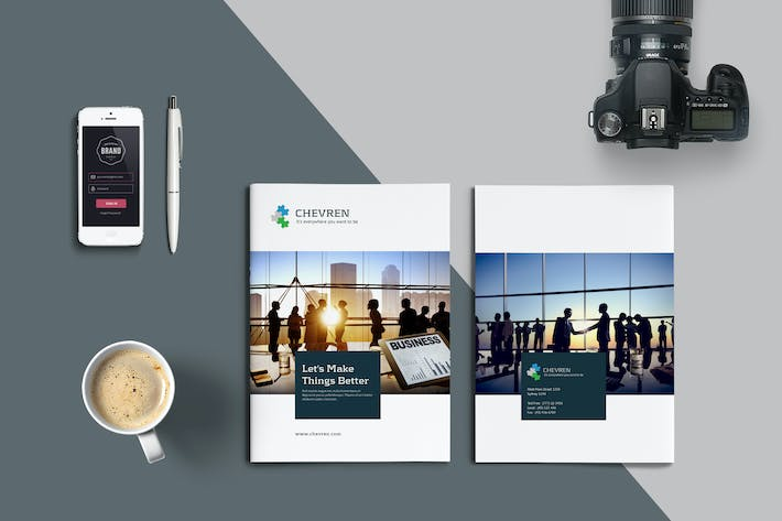 cover image for business brochure template - Brochure Templates Envato