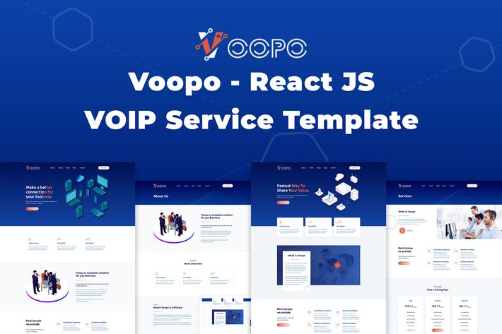 Thumbnail for Voopo - React JS VOIP Service Template