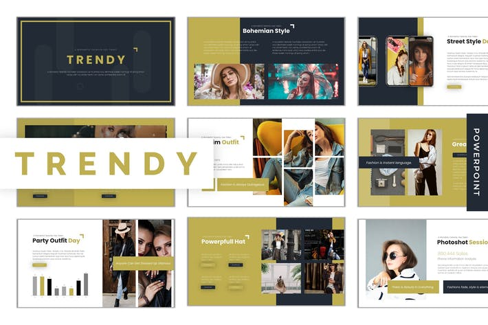 Thumbnail for Trendy - Powerpoint Template