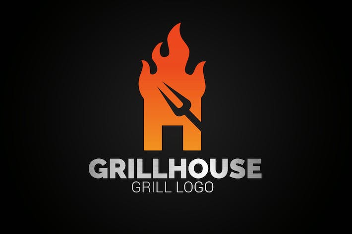 Thumbnail for Letter H Fire Grill Logo