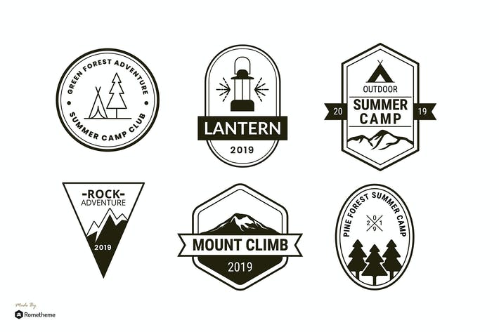 Thumbnail for Set of Camping and Adventure Logo Badge RB