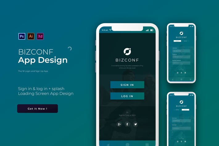 Thumbnail for Bizconf Login & Signup | App Template