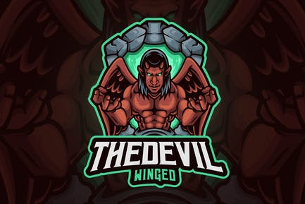 Devil Winged Mascot Logo
