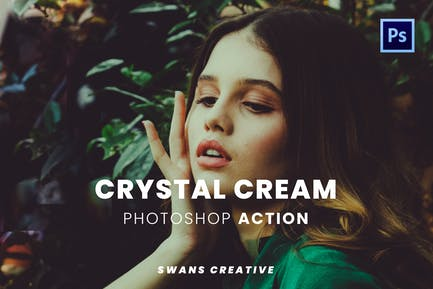 Crystal Cream Photoshop Action