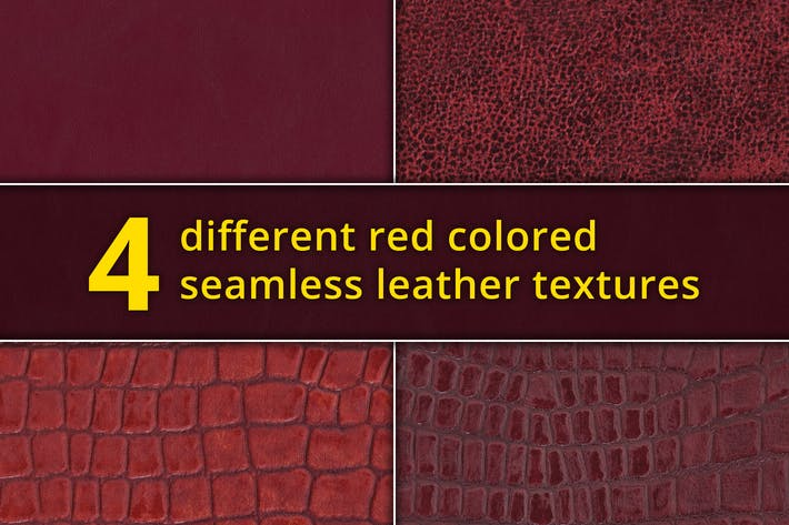Thumbnail for Set of 4 seamless red leather textures