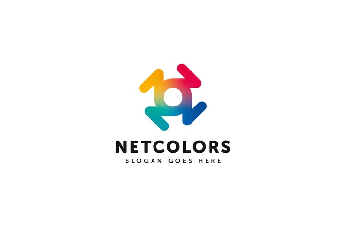 Thumbnail for Net Colors Logo Vector Template