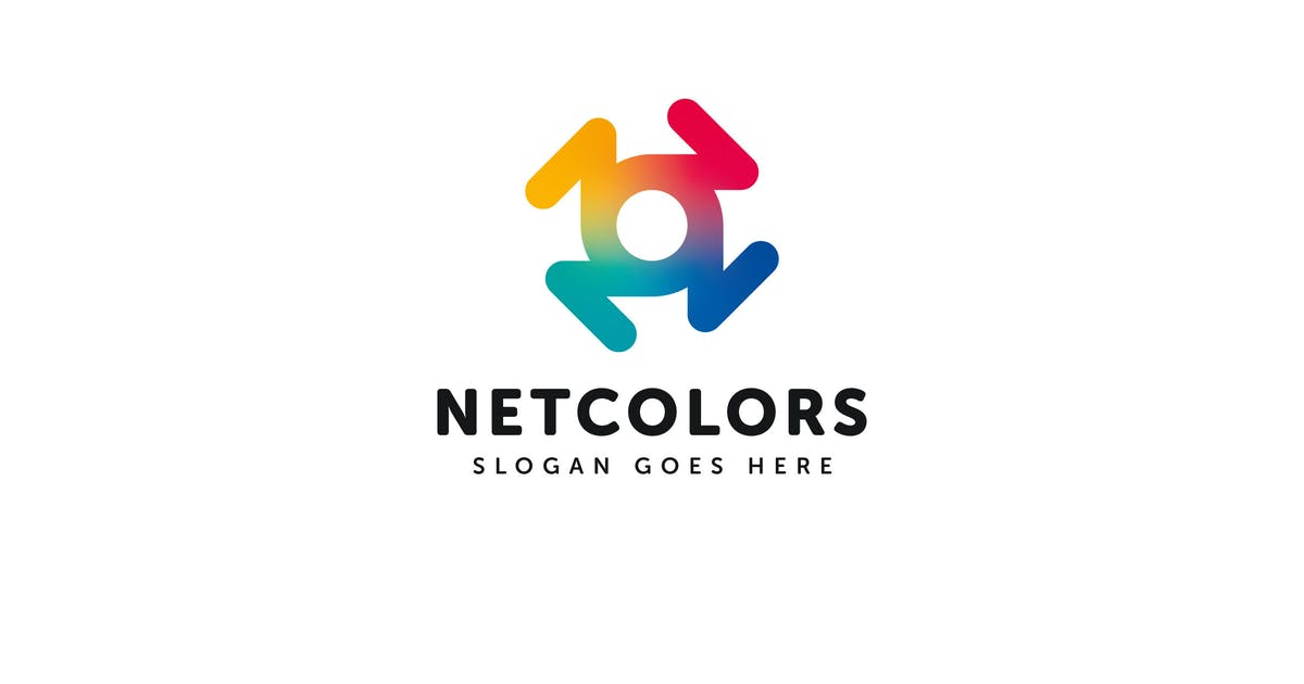 Download Net Colors Logo Vector Template by Pixasquare