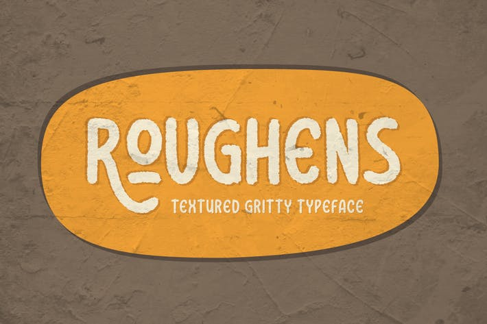 Thumbnail for Roughens Typeface
