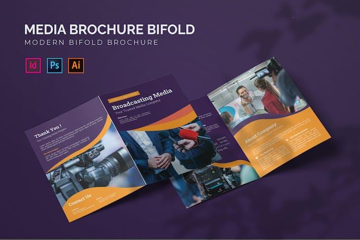 Medienbroschüre - Bifold Broschüre