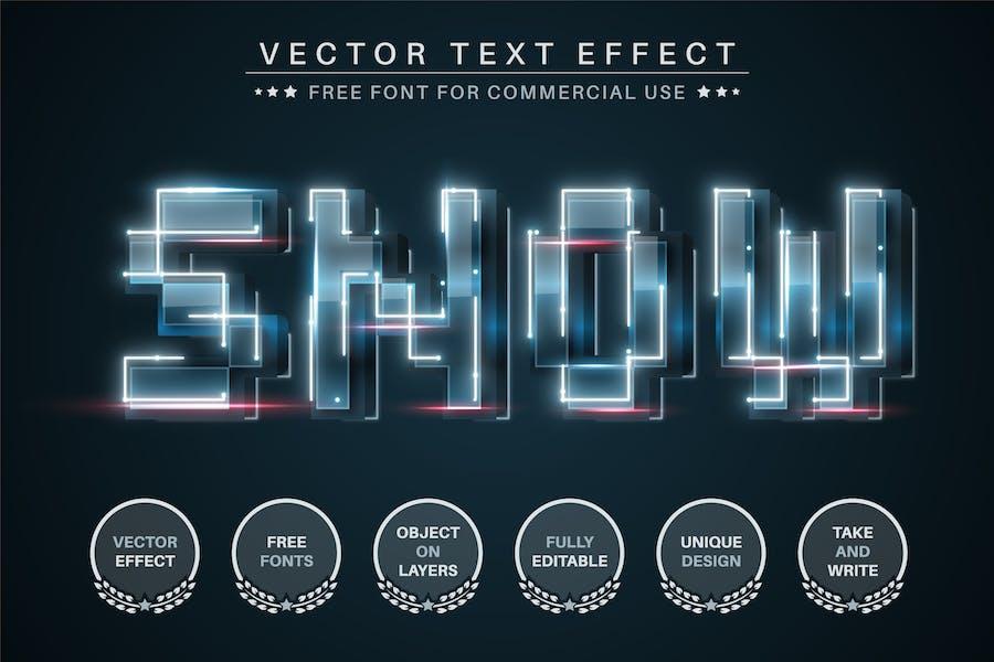 Digital snow - editable text effect, font style
