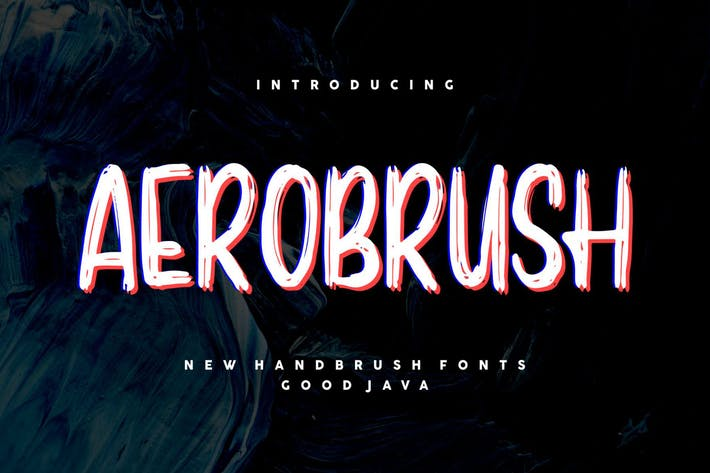 Thumbnail for Aerobrush GJ - Modern Brush Font