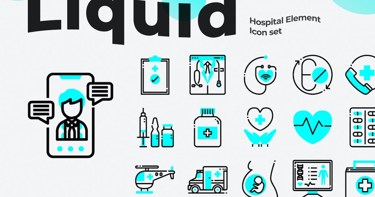 Download 30 Hospital Icons by Justicon