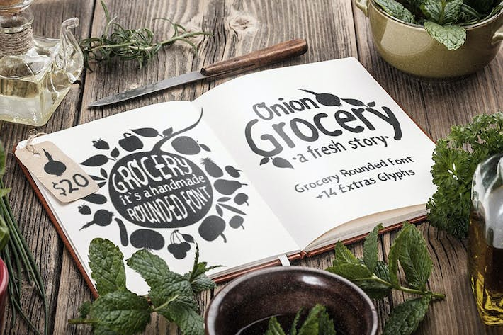 Thumbnail for Grocery Rounded Font
