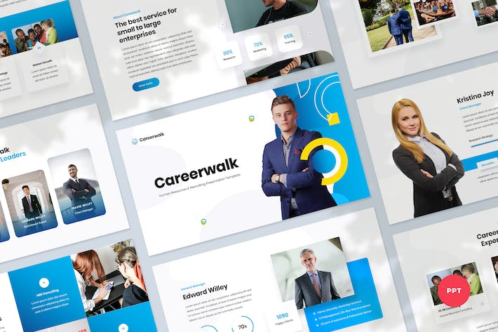 Thumbnail for Human Resources & Recruiting PowerPoint Template
