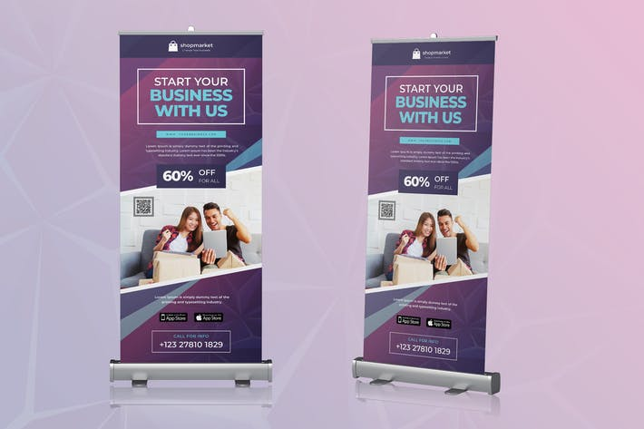 Cover Image For Roll Up Banner Business Promotion