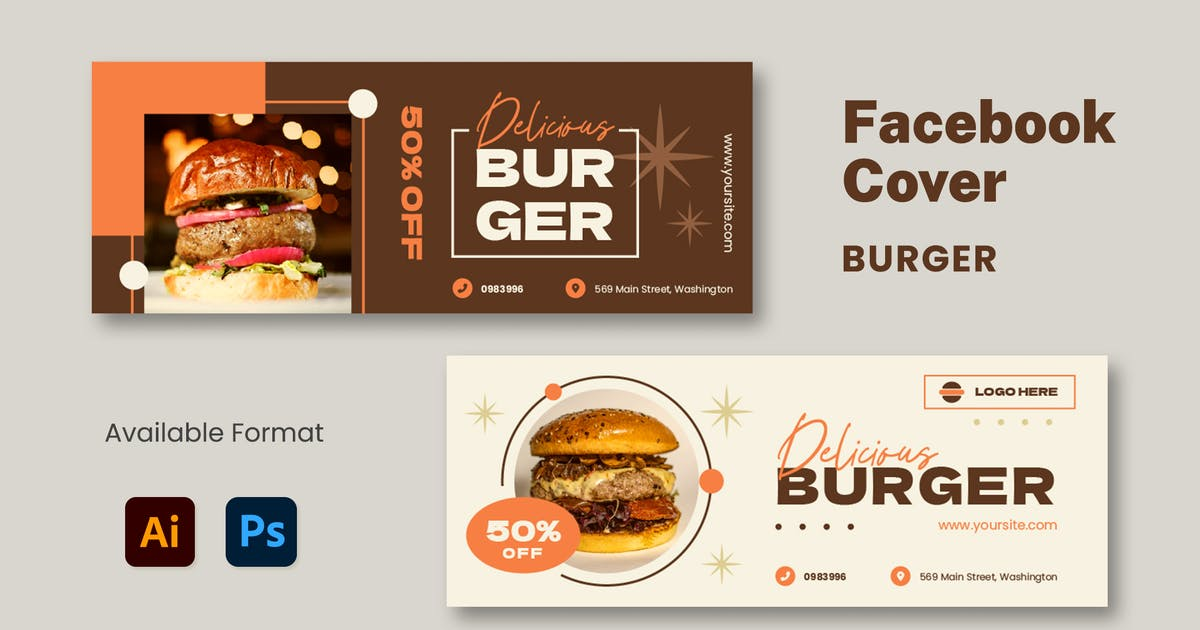 Download Burger Facebook Cover by mikrotypestd