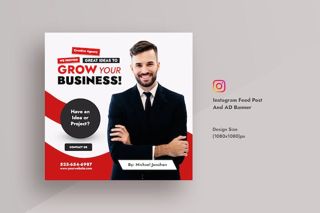 Corporate & Business Instagram Post & AD Banner