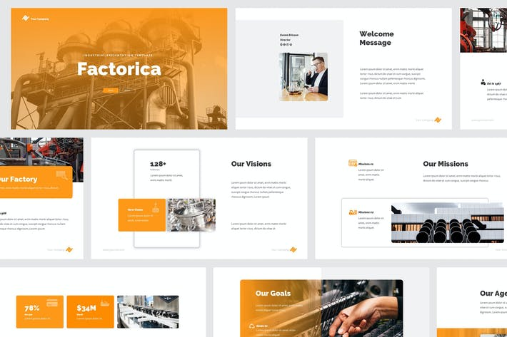 Thumbnail for Factory & Industrial Powerpoint Presentation