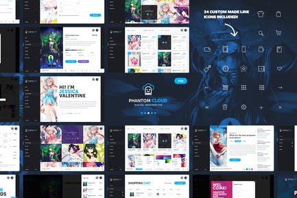 Phantom Cloud - Digital Artist Shop PSD Template