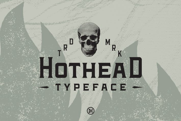 Thumbnail for Hothead Typeface| Display Font