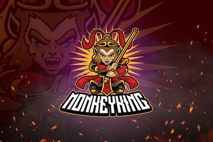 Heroes Mascot & Esport Logo V1 - Monkey King