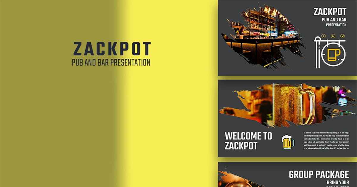 Download Zackpot– Pub & Bar Keynote Template by raseuki