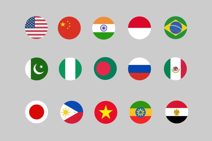 Thumbnail for 30 Country Flag Icons