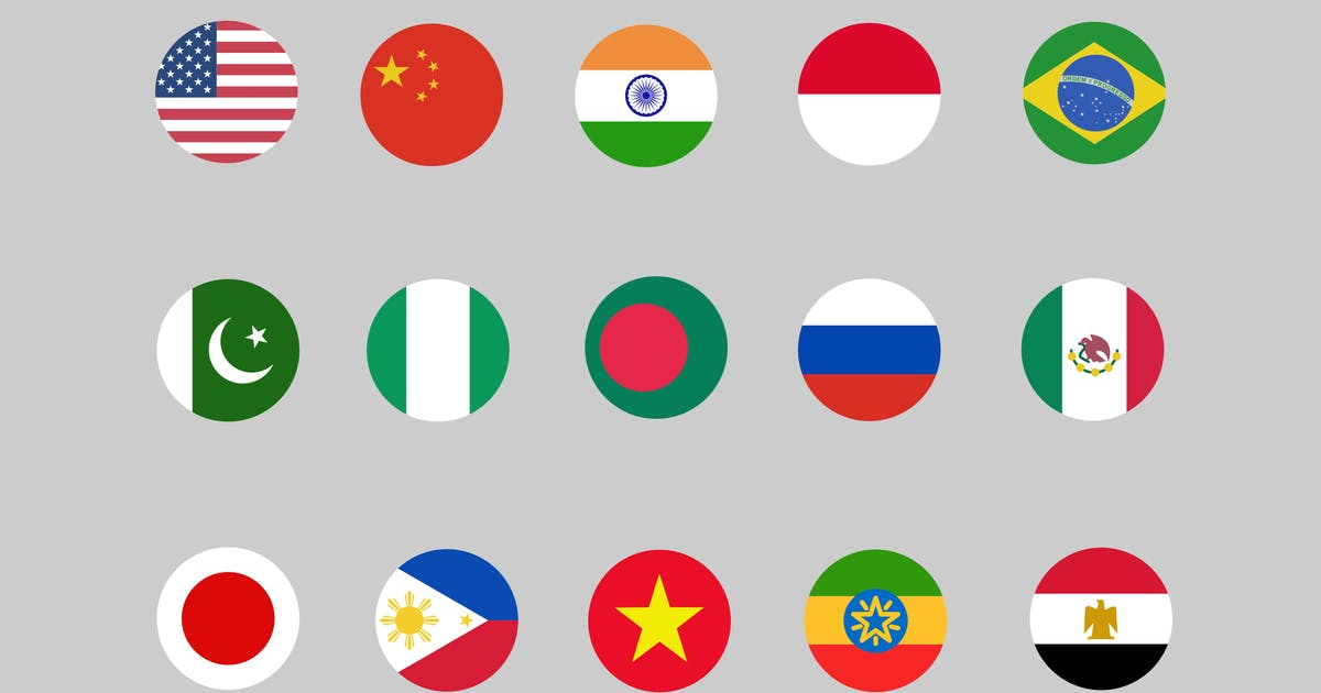 Download 30 Country Flag Icons by creativevip