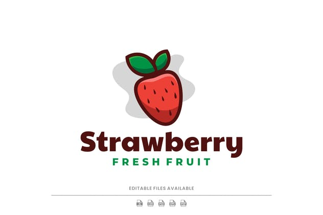 Strawberry Simple Logo