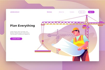 Construction Site - Banner & Landing Page