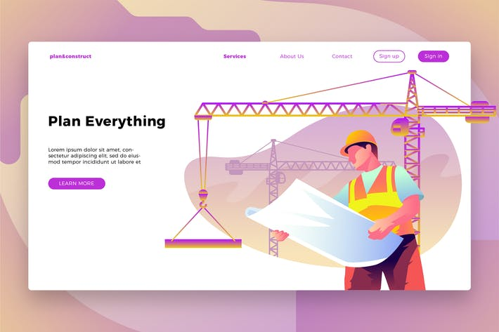 Thumbnail for Construction Site - Banner & Landing Page