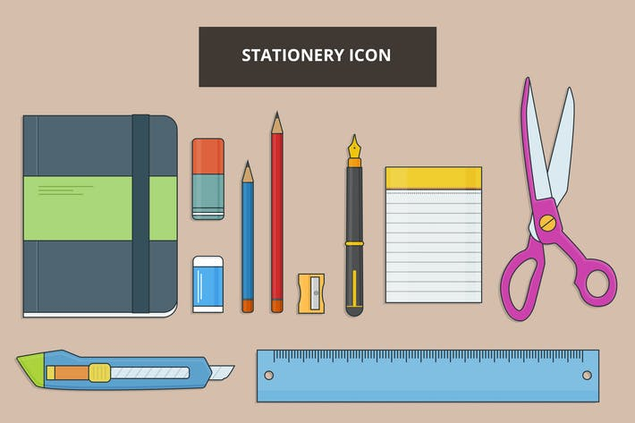 Thumbnail for Stationery Outline Icon