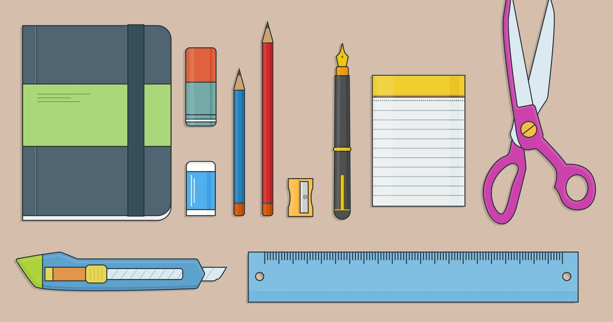 Stationery Outline Icon by vintagio