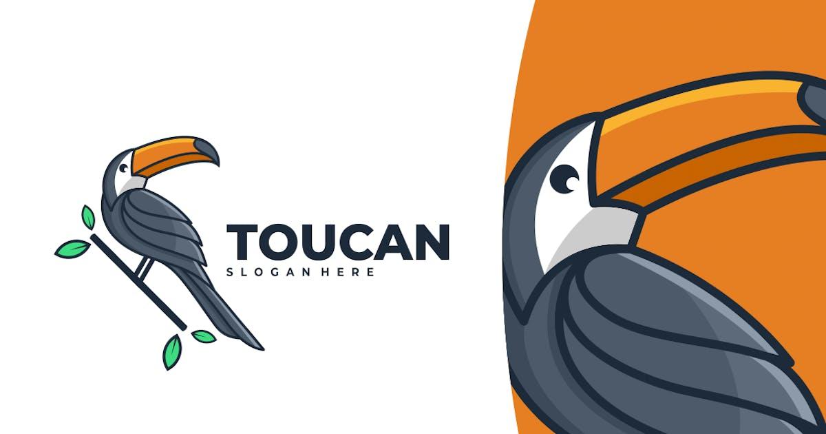 Toucan Simple Mascot Logo by artnivora_std