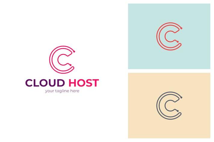 Thumbnail for Cloud Host C Letter Logo